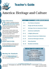 This 12-page Teacher Guide on KD2 America: Heritage and Culture is filled with activity ideas and blackline masters that can help children understand America's past and culture.