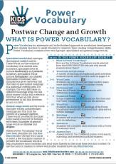 Postwar Change and Growth