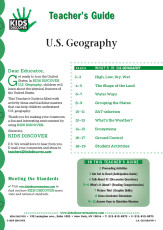 This 12-page Teacher Guide on KD2 U.S. Geography is filled with activity ideas and blackline masters that can help children understand U.S. geography.