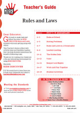 This Teacher's Guide is filled with activity ideas and blackline masters that can help students understand the benefit of following rules.