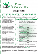 Power Vocabulary for Kids Discover Magnetism